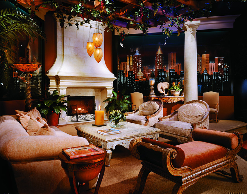 Mediterranian-Living-Room-Display
