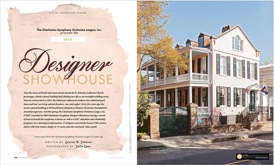Charleston Sc Charleston Magazine Designer Showhouse